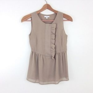 Gap Ruffle Sleeveless Blouse Peplum Top